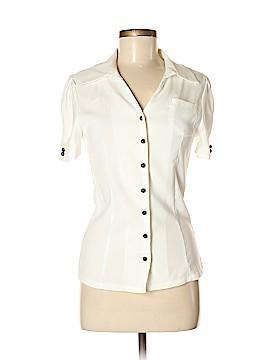 Mikarose Short Sleeve Button-Down Shirt Size S