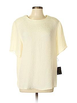 Valerie Stevens Short Sleeve Silk Top Size 14