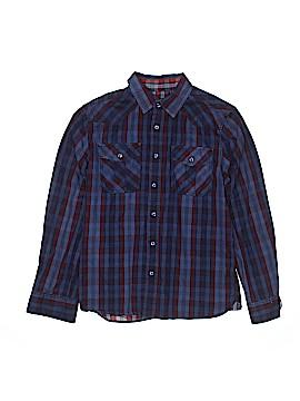 Buffalo by David Bitton Long Sleeve Button-Down Shirt Size L (Youth)