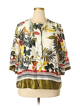 Zara Basic 3/4 Sleeve Blouse Size XL
