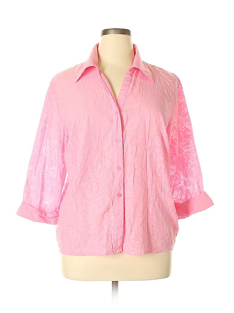 Apparenza Women 3/4 Sleeve Button-Down Shirt Size XL