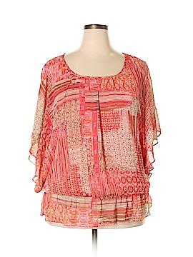 Sara Michelle Short Sleeve Blouse Size 2X (Plus)