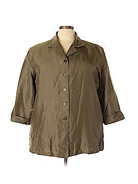 Anne Carson 3/4 Sleeve Silk Top Size 3X (Plus)