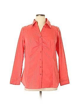Lane Bryant Outlet Long Sleeve Button-Down Shirt Size 16 (Plus)