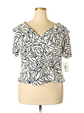 Alex Evenings Short Sleeve Blouse Size 2X (Plus)
