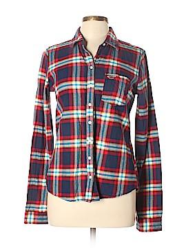 Hollister Long Sleeve Button-Down Shirt Size L