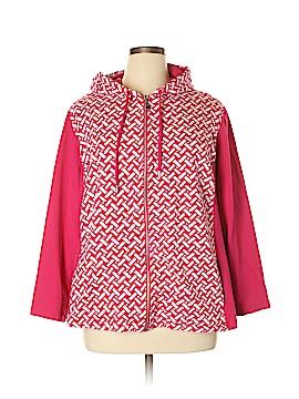 Susan Graver Zip Up Hoodie Size 2X (Plus)