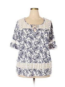Siren Lily Short Sleeve Blouse Size 2X (Plus)