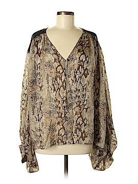 Aryn K. Long Sleeve Silk Top Size L