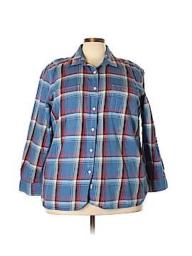 Lauren Jeans Co. Long Sleeve Button-Down Shirt Size 3X (Plus)