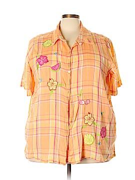 Bobbie Brooks Short Sleeve Button-Down Shirt Size 26 - 28 (Plus)