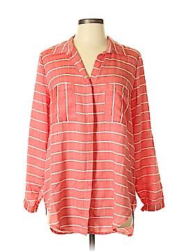 Khakis & Co Long Sleeve Button-Down Shirt Size M