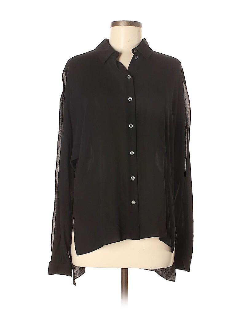 Michael Kors Women Long Sleeve Silk Top Size 6