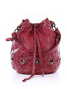 JM New York Leather Bucket Bag One Size