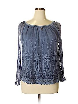 Saks Fifth Avenue Long Sleeve Silk Top Size XL