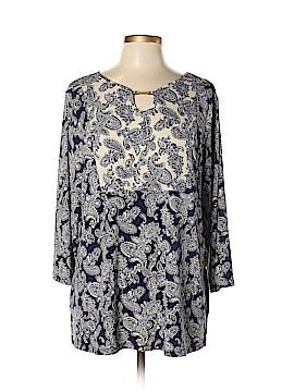 Susan Graver 3/4 Sleeve Top Size L