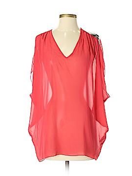 Nicole Miller Artelier Short Sleeve Silk Top Size P