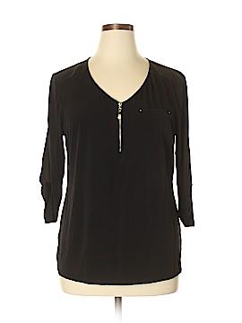 Roz & Ali Long Sleeve Top Size XL