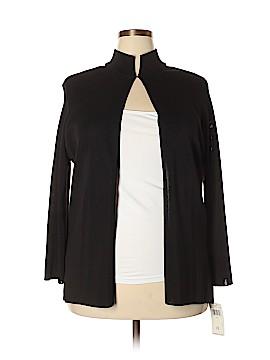 Dana Buchman Silk Cardigan Size 1X (Plus)