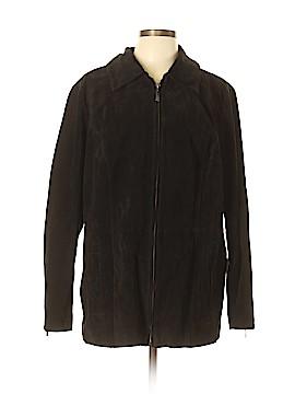 Dennis by Dennis Basso Leather Jacket Size 1X (Plus)