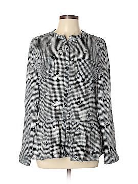 Ruff Hewn Long Sleeve Button-Down Shirt Size L