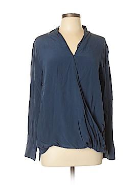 Soft Surroundings Long Sleeve Silk Top Size XL