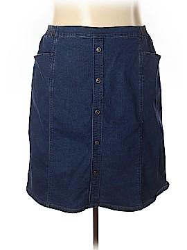 Just My Size Denim Skirt Size 4X (Plus)