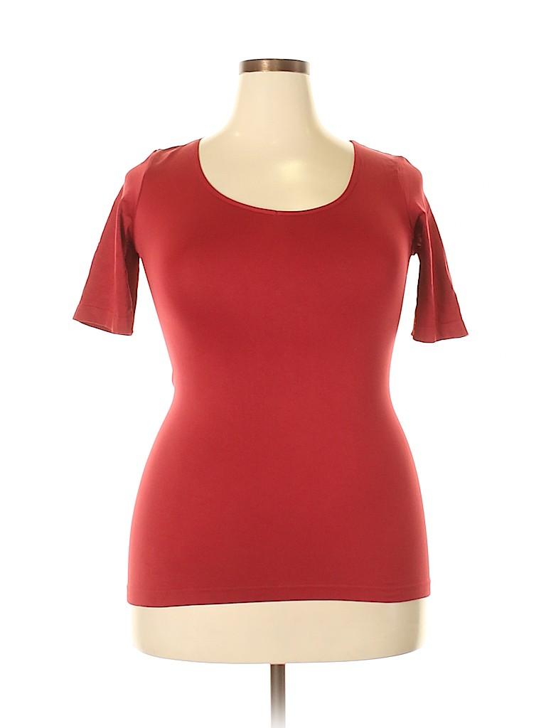 Rhonda Shear Women Short Sleeve T-Shirt Size 2X (Plus)