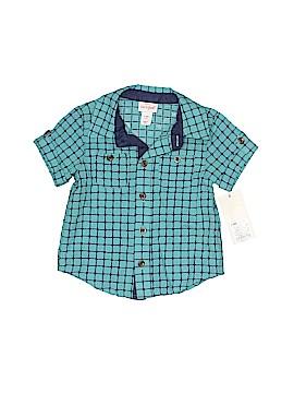 Cat & Jack Short Sleeve Button-Down Shirt Size 6-9 mo