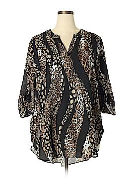 Catherine Malandrino 3/4 Sleeve Blouse Size 22 - 24W (Plus)