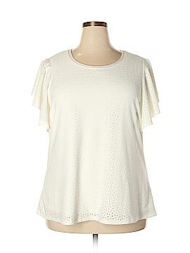 Skye's The Limit Short Sleeve Blouse Size 2X (Plus)