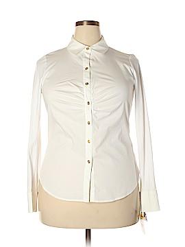 Dana Buchman Long Sleeve Button-Down Shirt Size 1X (Plus)
