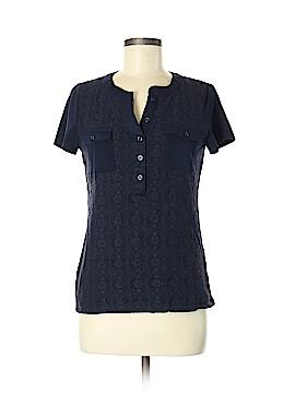 Jones New York Signature Short Sleeve Button-Down Shirt Size M