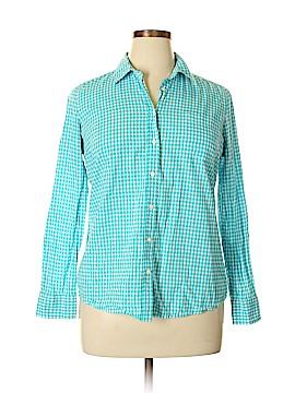 Fleur bleue Long Sleeve Button-Down Shirt Size XL