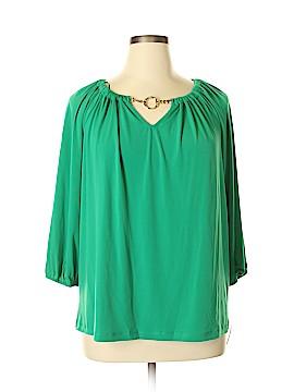 Dana Buchman 3/4 Sleeve Top Size 1X (Plus)