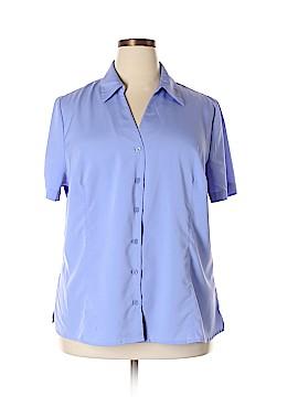 Liz Baker Short Sleeve Button-Down Shirt Size 22 (Plus)