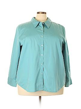 Denim & Co Long Sleeve Button-Down Shirt Size 3X (Plus)