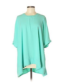 Melissa McCarthy Seven7 Short Sleeve Blouse Size M