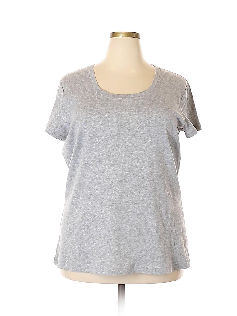Derek Heart Women Short Sleeve T-Shirt Size 3X (Plus)
