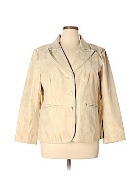 Dialogue Leather Jacket Size XL