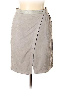 Halston Heritage Leather Skirt Size 14