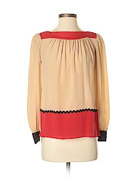 Pippa Long Sleeve Silk Top Size 0