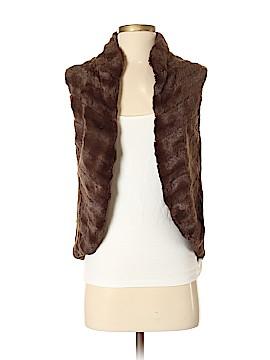 Donna Ricco Faux Fur Vest Size S