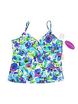 Caribbean Joe Swimsuit Top Size 22W (Plus)