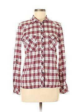 Stradivarius Long Sleeve Button-Down Shirt Size M
