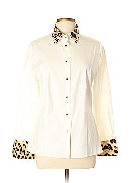 Roberto Cavalli Long Sleeve Button-Down Shirt Size 46 (IT)