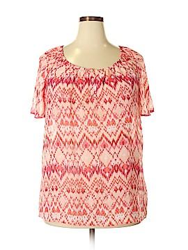 Faded Glory Short Sleeve Blouse Size 1X (Plus)
