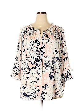 Liz Claiborne 3/4 Sleeve Blouse Size 2X (Plus)