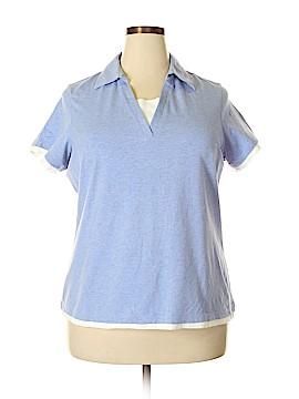 Denim & Co Short Sleeve Top Size 1X (Plus)