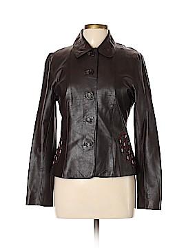 Philippe Adec Paris Leather Jacket Size 8